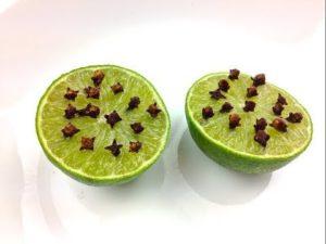 Sivrisinekler için limon karanfil