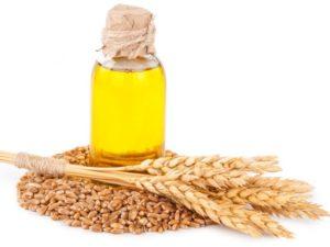 Buğday tohumu yağı cam şişe, buğday tohumları be başakları