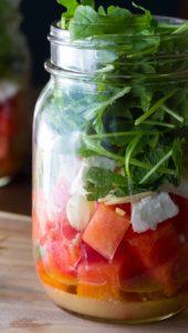Vegan Roka ve Karpuz Salatası