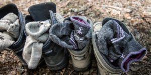 doğa yürüyüşünde çoraplar