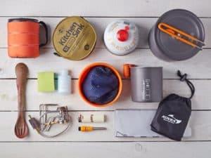 kampçılık ve mutfak malzemeleri